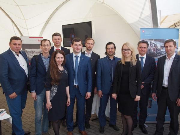 Открытие Готтардского тоннеля в посольстве Швейцарии в Москве